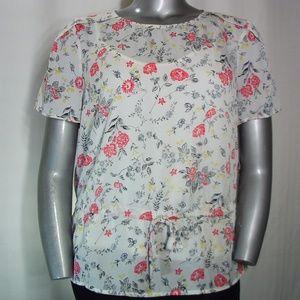 Liz Claiborne Short Sleeve Cinched Cami Blouse XL